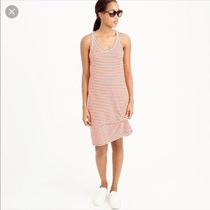 J. Crew Racerback Stripe Tank Dress Red/White XXS